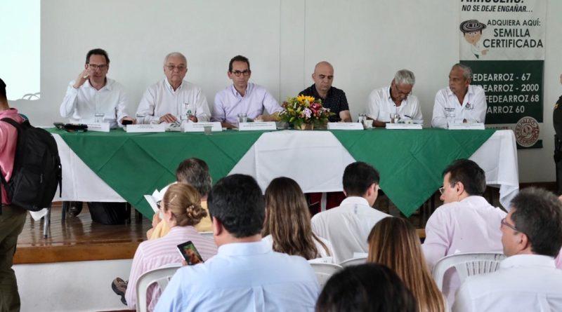 Ministro Valencia anunció paquete de medidas para atender al sector arrocero