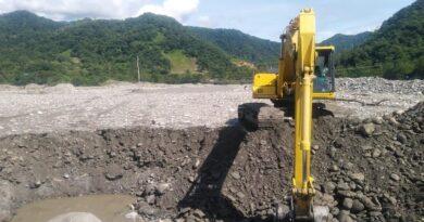 Continúan los trabajos de mitigación del riesgo en el río Guayuriba