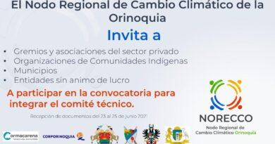 Ya se encuentra abierta la convocatoria para integrar el Nodo Regional de Cambio Climático de la Orinoquia